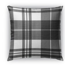 Plaid Burlap Indoor/Outdoor Throw Pillow by Kavka