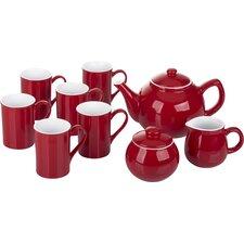 9 Pieces Stoneware 2 Tone Tea Set
