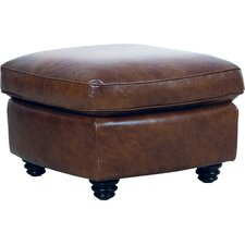 Clairsville Leather Ottoman by Canora Grey