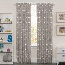 Yardley Polka Dots Blackout Thermal Rod Pocket Single Curtain Panel