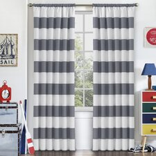 Jameson Striped Blackout Thermal Rod Pocket Single Curtain Panel