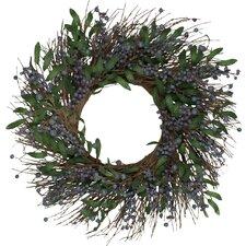 "24"" Blueberry Wreath"