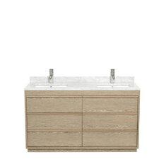 Naya 60 Double Ash Gray Bathroom Vanity Set by Wyndham Collection