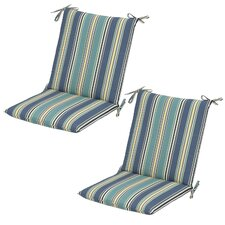 Aranmore Striped Mid-back Outdoor Dining Chair Cushion (Set of 2)