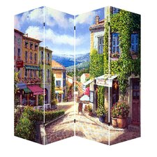 """Bridwell 78"""" x 64"""" French Provence Canvas 4 Panel Room Divider"""