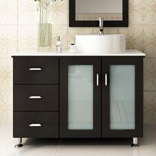Lune 39 Single Vessel Modern Bathroom Vanity Set by JWH Living