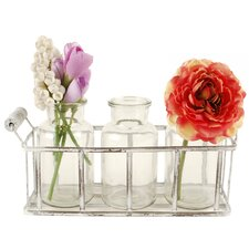 4 Piece Basket Table Vase Set