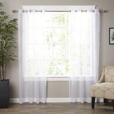 Wayfair Basics Solid Sheer Grommet Curtain Panels (Set of 2)