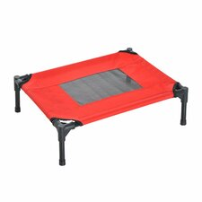 Portable Elevated Pet Bed in Red