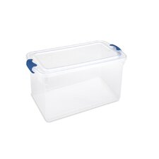 Latching Plastic Storage Tote (Set of 2)