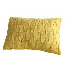 Embroidered Dot Lumbar Pillow