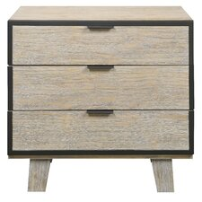 Sidney 3 Drawer Nightstand