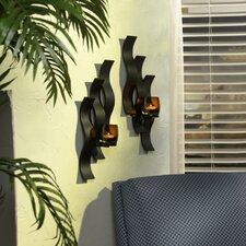 Solaris Triple Wave Glass Sconce (Set of 2)