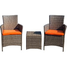 Mike 3 Piece Seating Group with Cushions