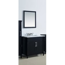 Continental 36 Single Bathroom Vanity Set with Mirror by LUXE by Deluxe Vanity