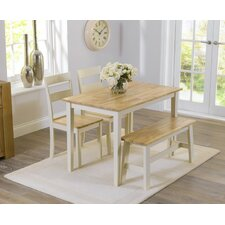 Beecher Falls Dining Set with 2 Chairs and one Bench