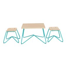 Kellan Kids 3 Piece Square Table and Stool Set