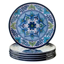 "Talavera 11"" Heavy Weight Melamine Dinner Plate (Set of 6)"