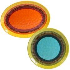 Sedona 2 Piece Heavy Weight Melamine Platter Set