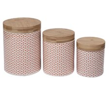 Chelesea Honeycomb 3 Piece Kitchen Canister Set (Set of 3)