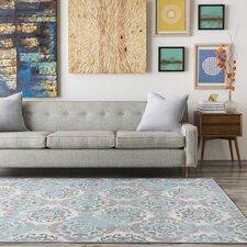 Raquel Grey & Silver/Blue Area Rug