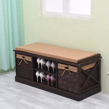 Wood Storage Entryway Bench by Greenville Signature