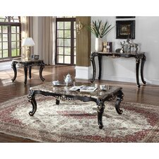 Marble 3 Piece Coffee Table Set by BestMasterFurniture