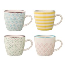 Patrizia 4 Piece Ceramic Mug Set