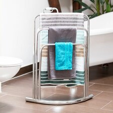 Curvy Freestanding 3 Bars Towel Rack Stand