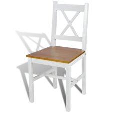4-tlg. Esszimmerstuhl-Set aus Massivholz