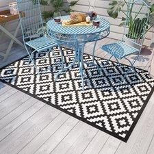 Teppich gewebt schwarz weiß