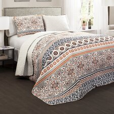 Vivian 3 Piece Reversible Quilt Set