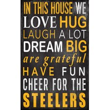 NFL In This House Sign Wall Décor