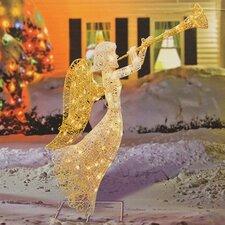 Glittered Trumpeting Angel Christmas Decoration