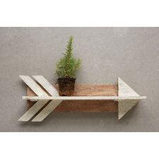 Wood Arrow Shaped Shelf by Creative Co-Op