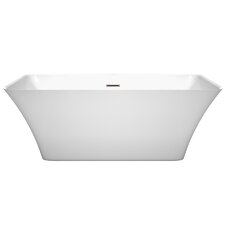 Tiffany 59 x 29.5 Freestanding Soaking Bathtub by Wyndham Collection