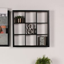 Corri Square Divided Cubby Wood Wall Accent Shelf