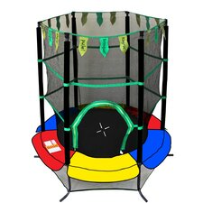 "Youth Jumping 55"" Round Trampoline With Safety Enclosure"