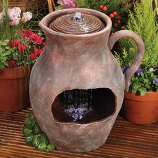 Waterfall Jug Fountain with LED Light