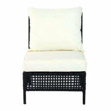 Outsunny Rattan Middle Chair with Cushion