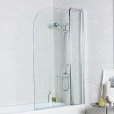 140cm H x 100cm W Hinged Bath Screen