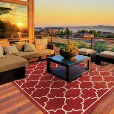 Duncan Red/Ivory Indoor/Outdoor Area Rug