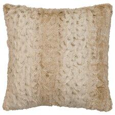 Pearl Leopard Cuddle Fur Throw Pillow