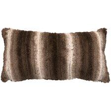 Angora Ash Cuddle Fur Lumbar Pillow