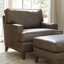 Cypress Point Leather Armchair and Ottoman by Tommy Bahama Home
