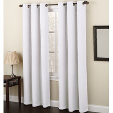 Montego Solid Sheer Grommet Single Curtain Panel