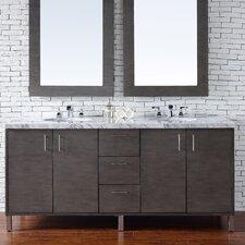 Metropolitan 72 Double Silver Oak Bathroom Vanity Set by James Martin Furniture