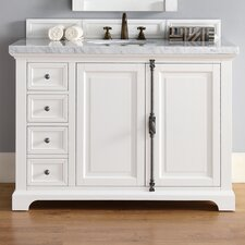 Providence 48 Single Cottage White Bathroom Vanity Set by James Martin Furniture