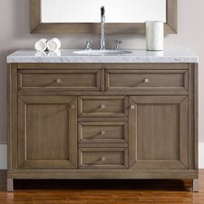 Chicago 48 Single White Washed Walnut Bathroom Vanity Set by James Martin Furniture