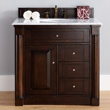 New Haven 36 Single Burnished Mahogany Bathroom Vanity Set by James Martin Furniture